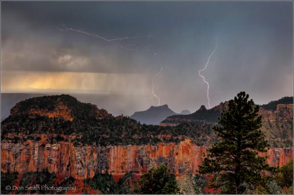 Grand Canyon NP, daytime lightning, photo workshop