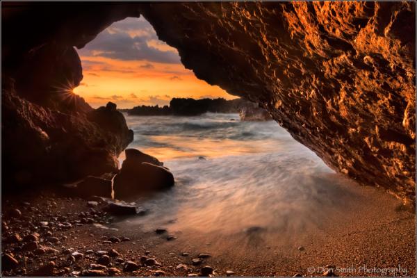 Maui, Hana Coast, Maui, Hawaii, lava tube, sunrise