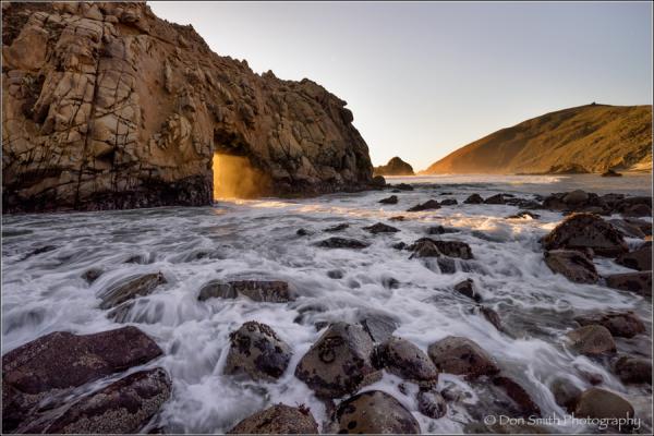 keyhole arch, pfeiffer beach, big sur coast, calif