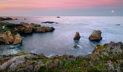 Dawn Moonset, Soberanes Point, Big Sur