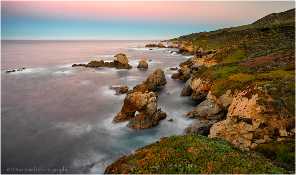 Morning Hues, Garapatta Arch, Big Sur Coast
