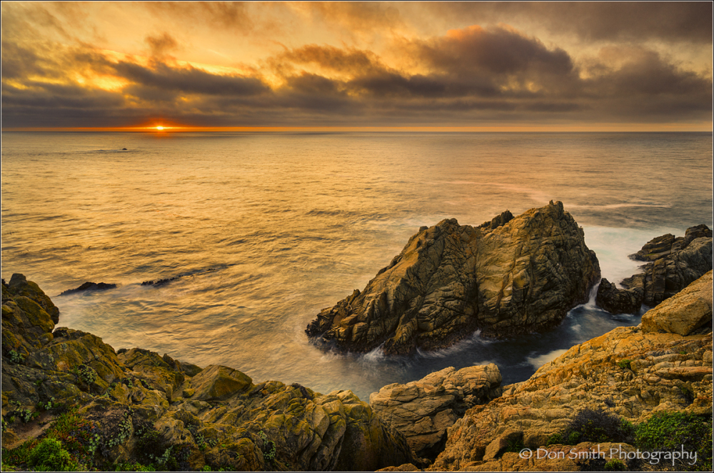 Winter Sunset, Pinnacle Point, Pt. Lobos Reserve