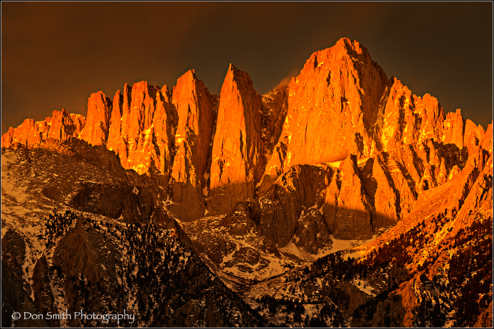 Alpenglow and Storm Light on Mt. Whitney