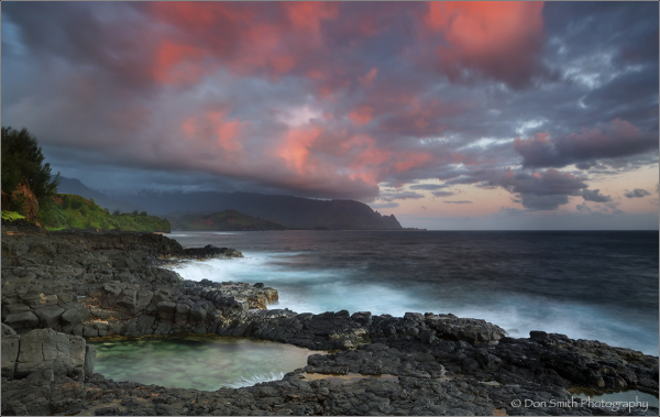 Queen's Bath, Kauai, Hawaii, sunrise