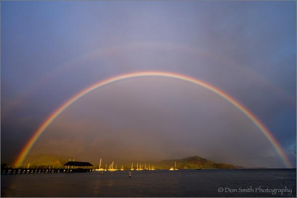 Double Rainbow Over Hanalei Pier, Hanalei BayKauai