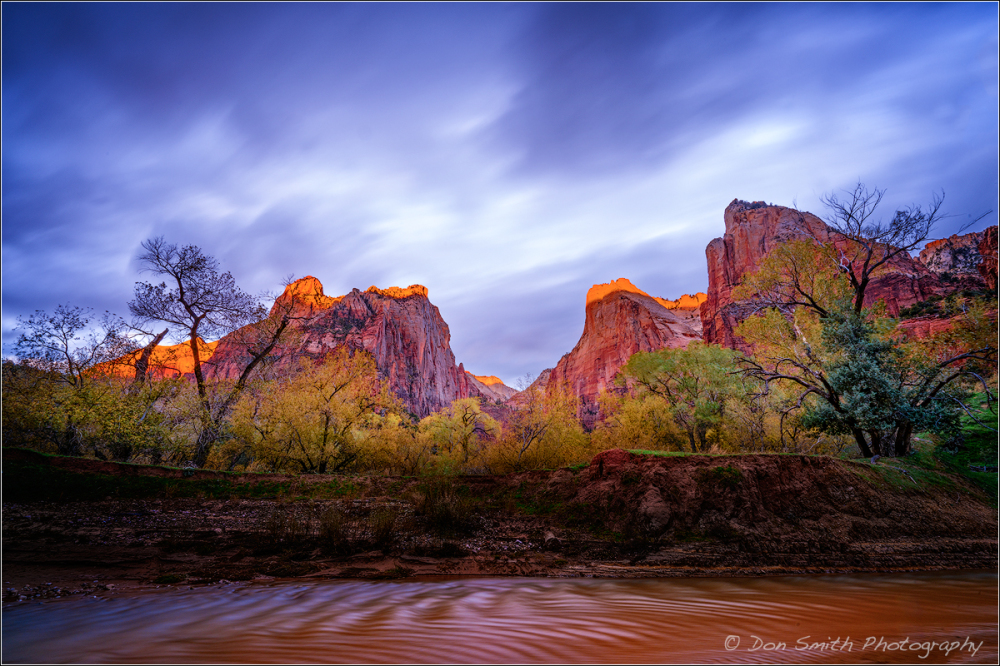 Sunrise at Court of the Patriarchs, Zion, Utah