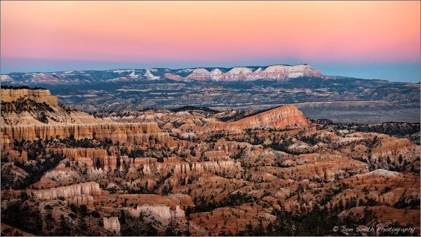 Twilight Wedge Over Bryce Canyon, Utah