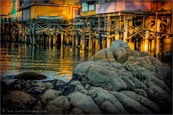 Reflections of Fisherman's Wharf, Monterey, CA