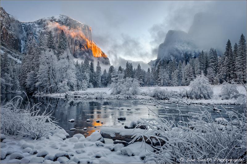 Alpenglow on El Capitan, Yosemite NP