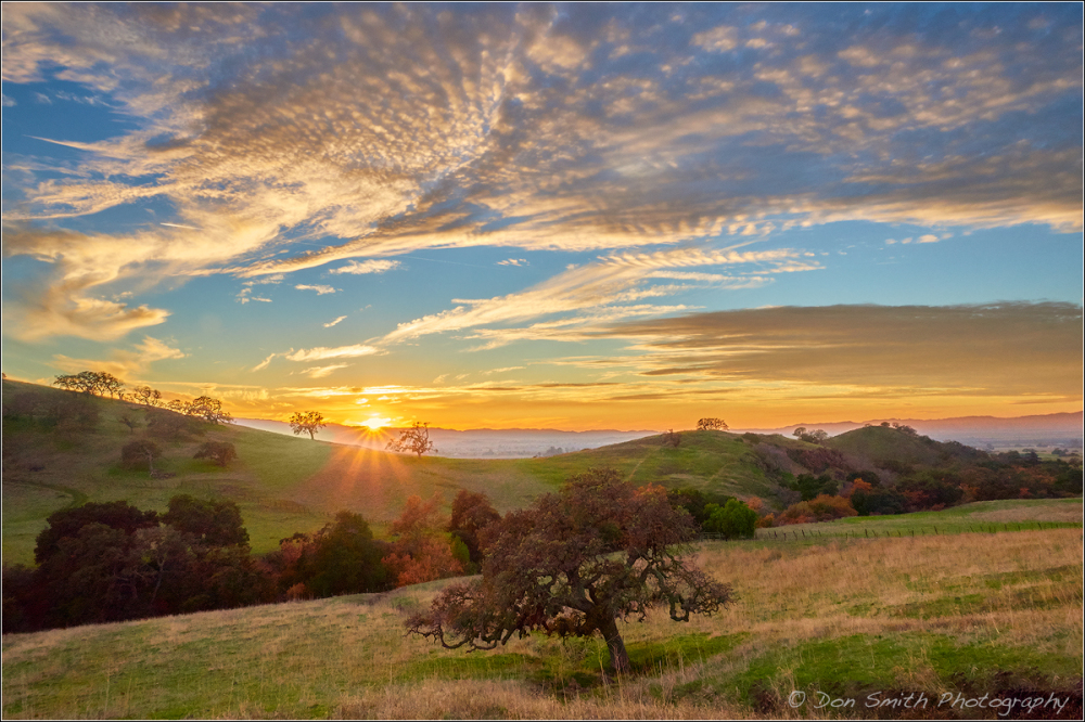 Sunset Over Diablo Hills, California
