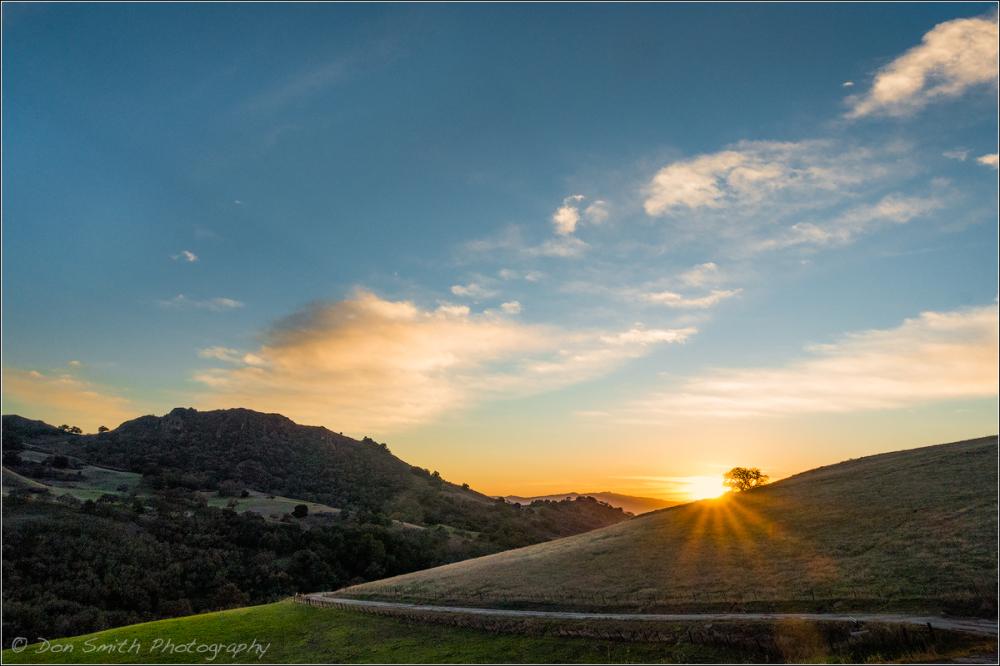 Lone Tree Road Sunset, San Benito County, CA