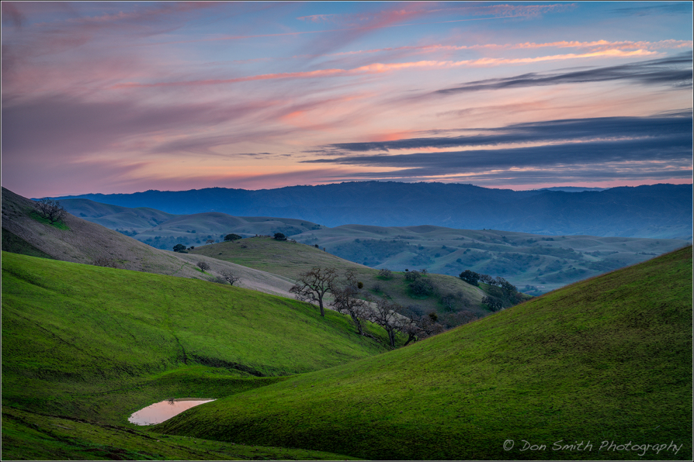 Dusk Sky Over Diablo Hills, Central California