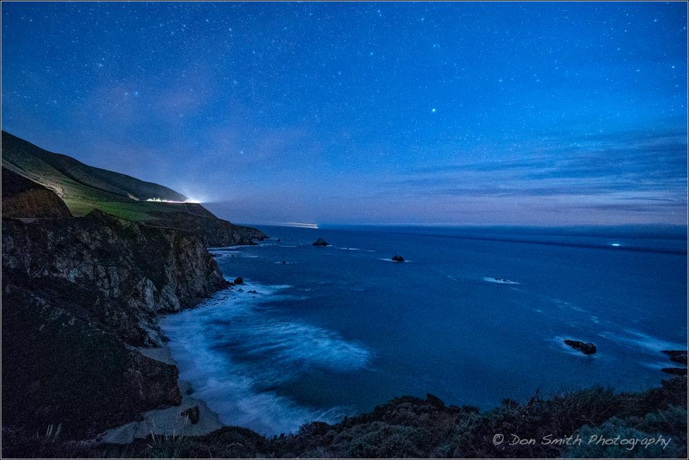 Starry Night Along Big Sur Coast