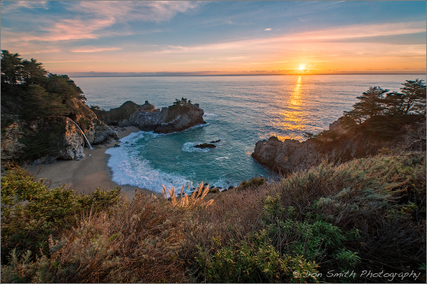 Winter Sunset, McWay Fall, Big Sur