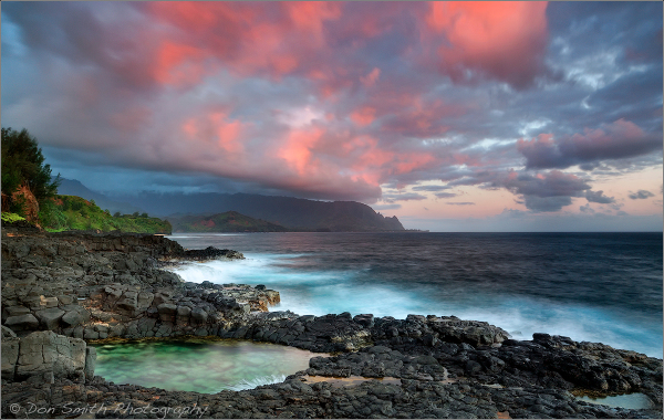 Morning Bath at Queen's Bath, Kauai, Hawaii