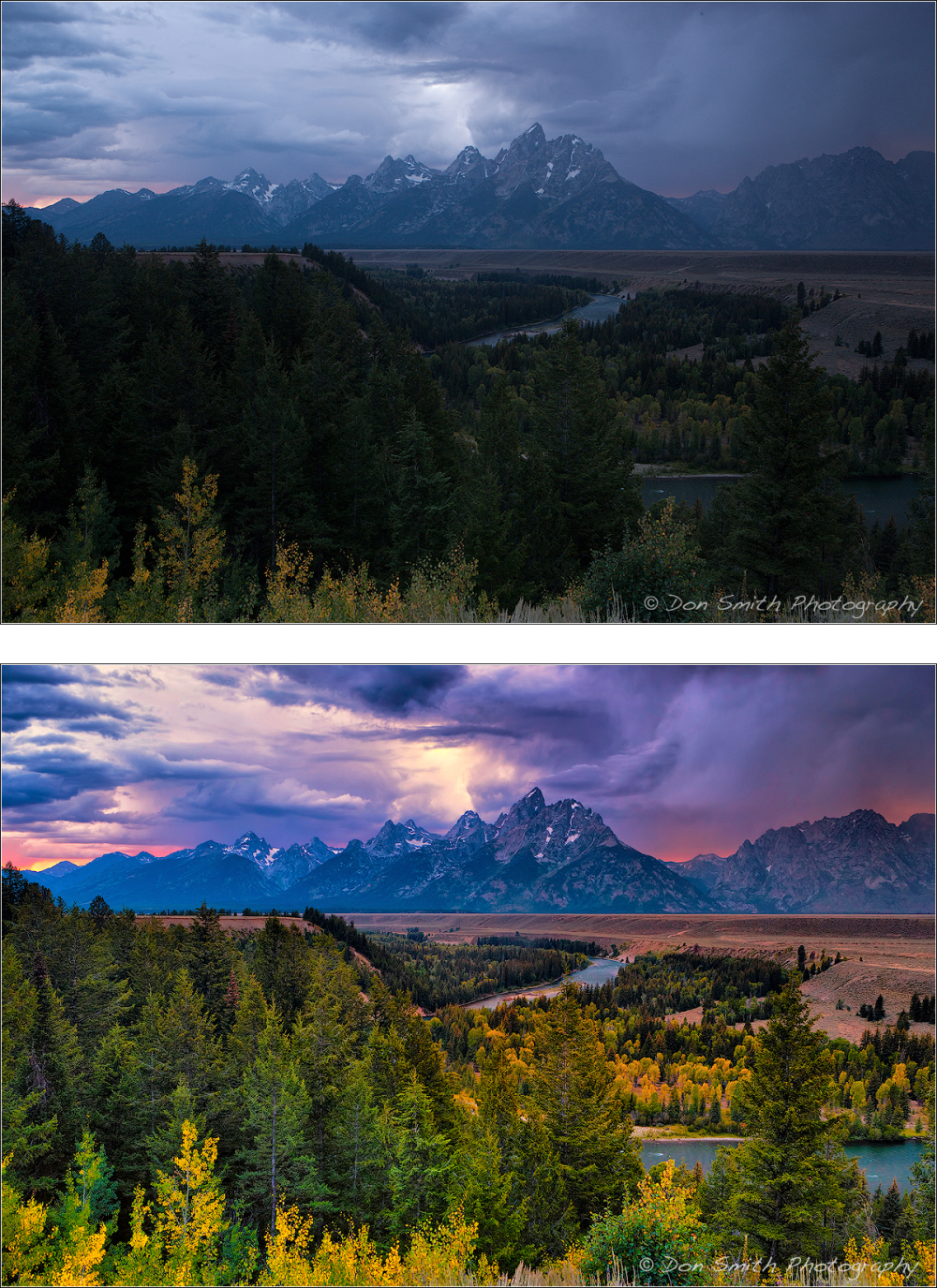 Dusk at Snake River Overlook, Grand Teton NP