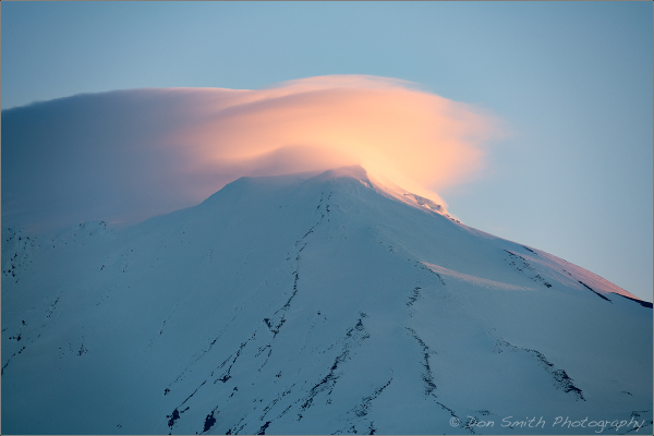 Dawn Alpenglow on Mt. Adams, Washington