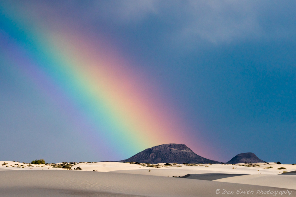 Rainbow Over White Sands