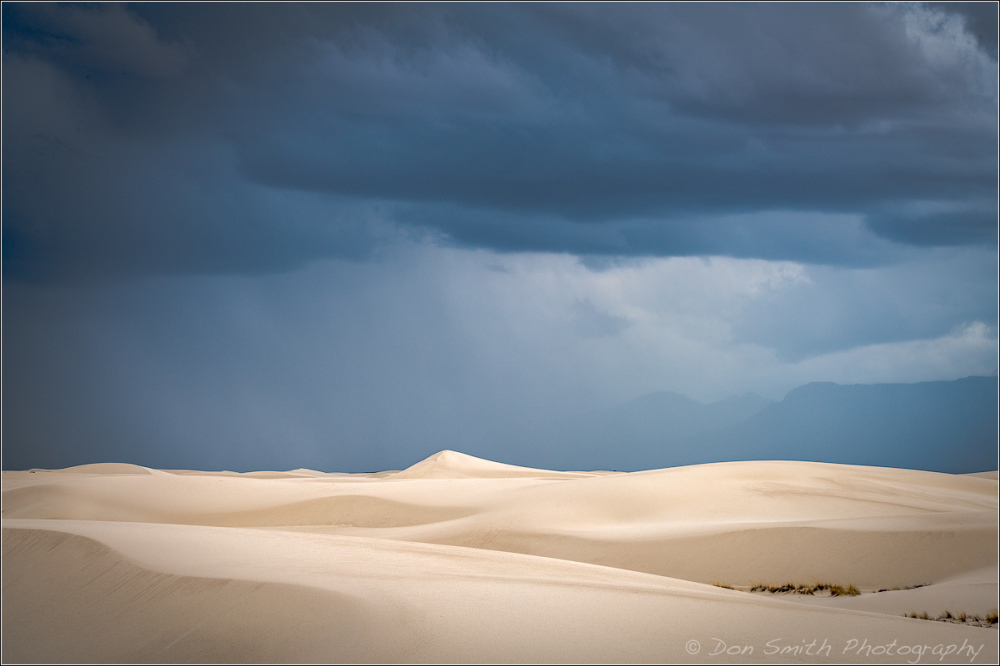 Storm Clouds Over White Sands Large Dunes