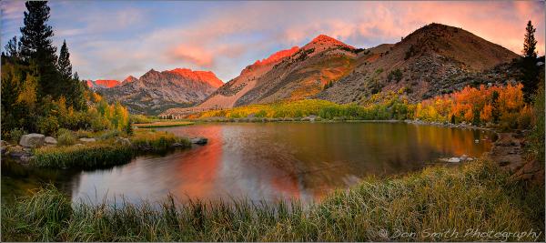 North Lake Alpenglow, Eastern Sierra
