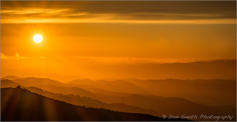 Sunset Over Gabilan Mountains