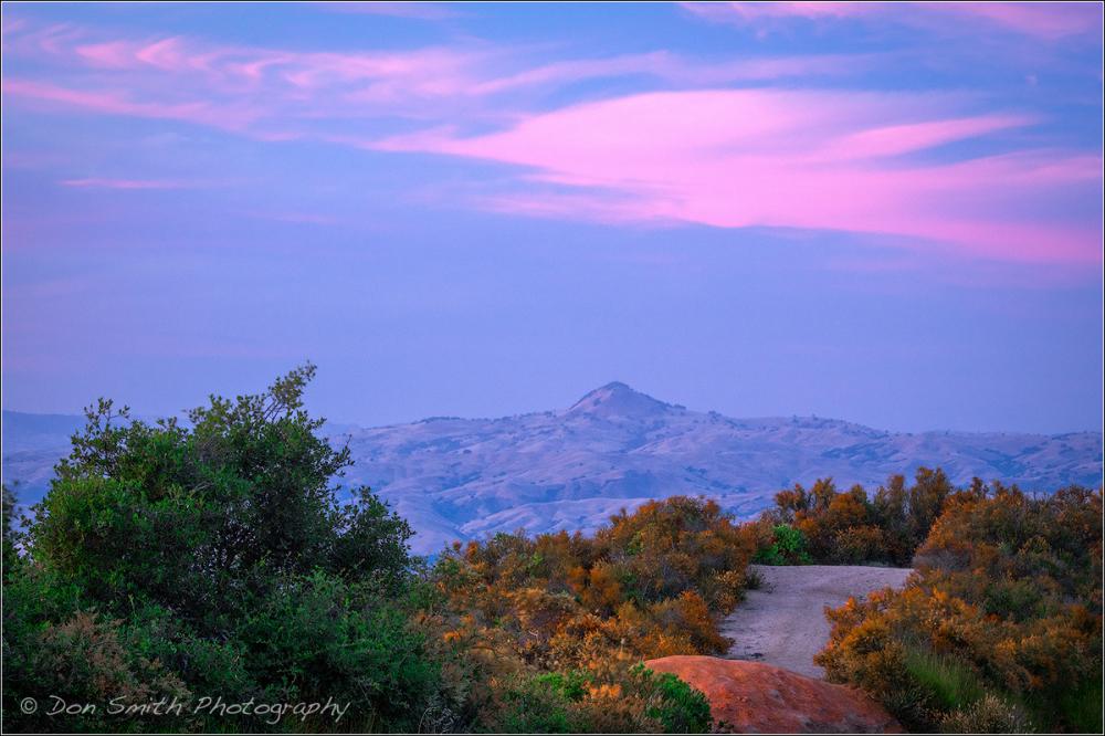 Dusk-Lit Cloud Over Santa Ana Peak