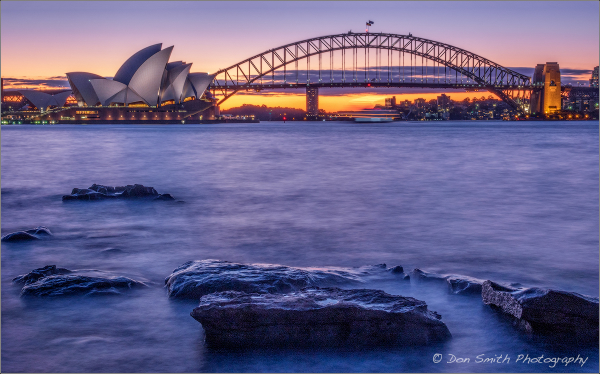 Winter Sky, Sydney Opera House and Bridge