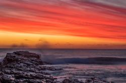 Dusk Sky Over Nettley Bay, Tasmania