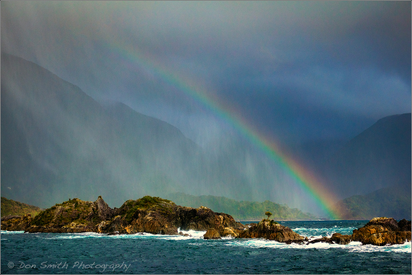 Rainbow Over Tasman Sea