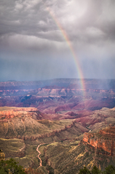 Rainbow and Grand Canyon National Park