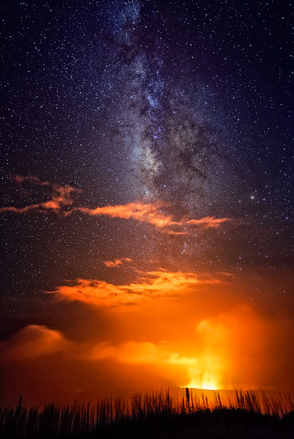 Milky Way Over Kilauea Caldera, Hawaii