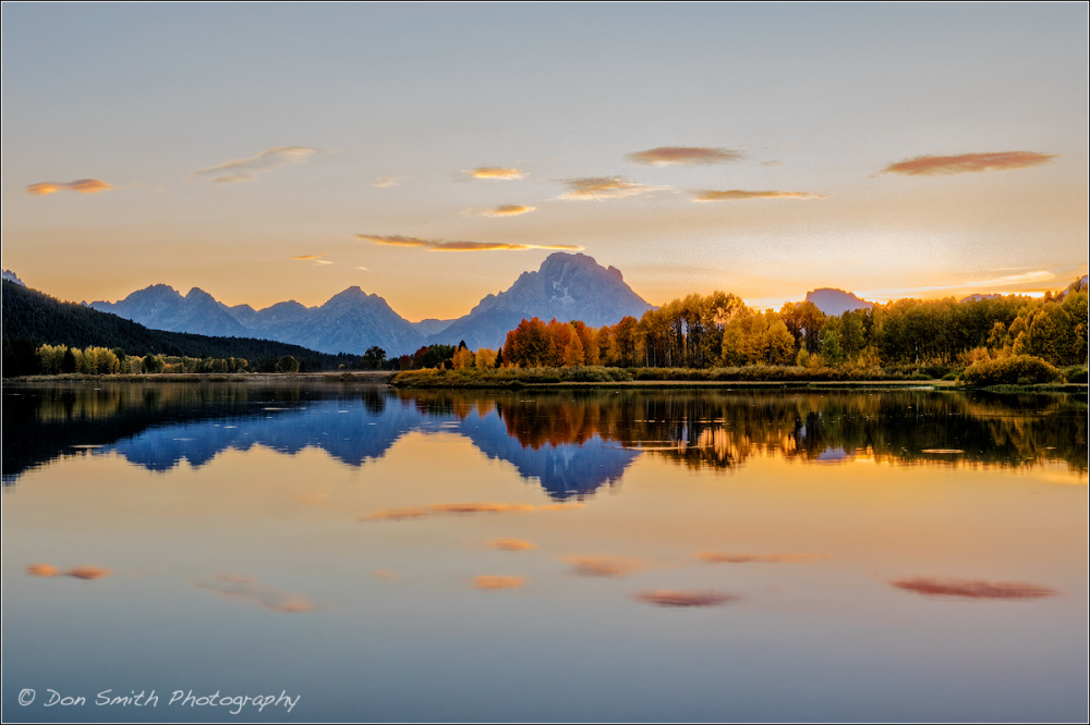 Dusk at Oxbow Bend, Grand Teton National Park