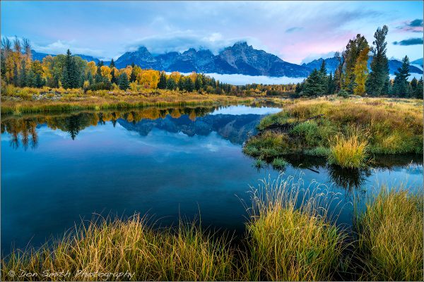 Dawn at Schwabacher Landing, Grand Teton NP