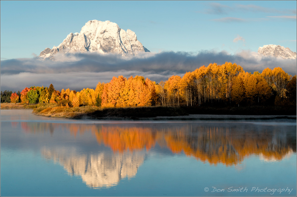 Sunrise at Oxbow Bend, Grand Teton NP