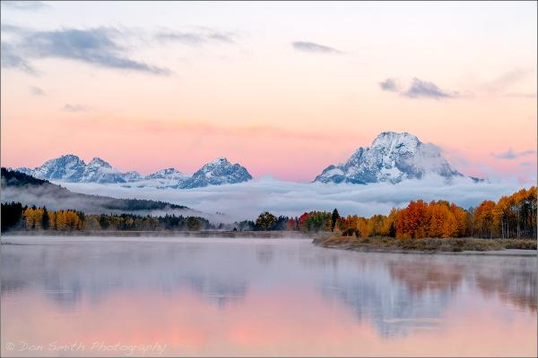 Dawn at Oxbow Bend, Grand Teton National Park