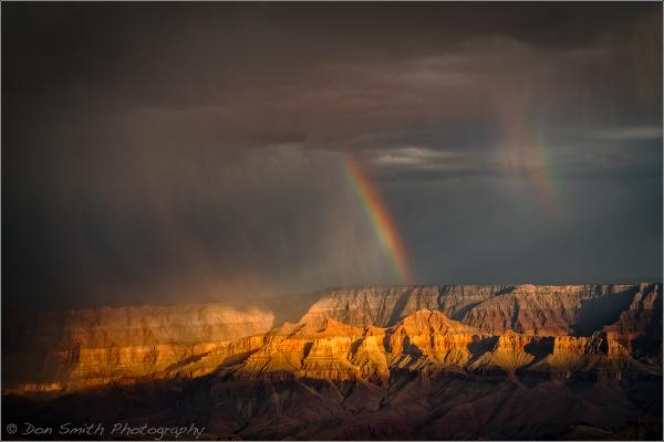 Monsoon Rainbows, Grand Canyon National Park