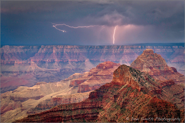 Lightning Strikes, North Rim, Grand Canyon NP