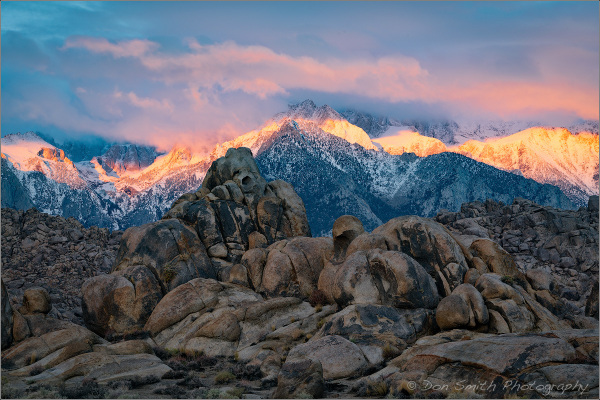 Dawn Alpenglow, Eastern Sierra