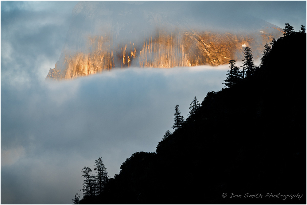 Half Dome Through Clouds, Yosemite NP