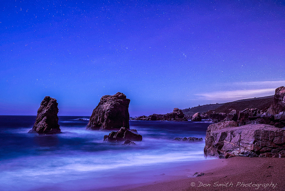 Night Sky, Soberanes Cove, Big Sur Coast