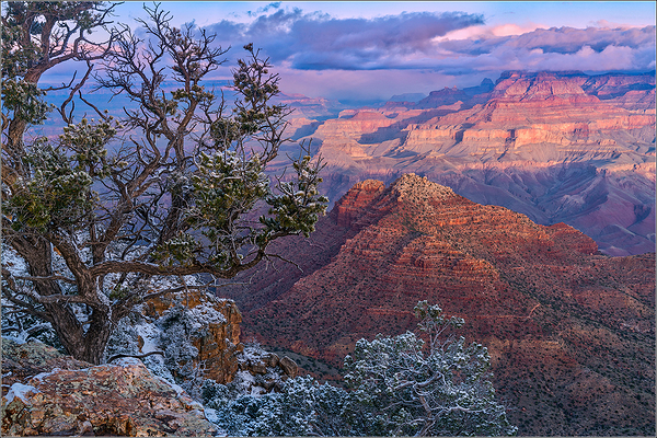 Morning Sunrise and Snow, Grand Canyon NP