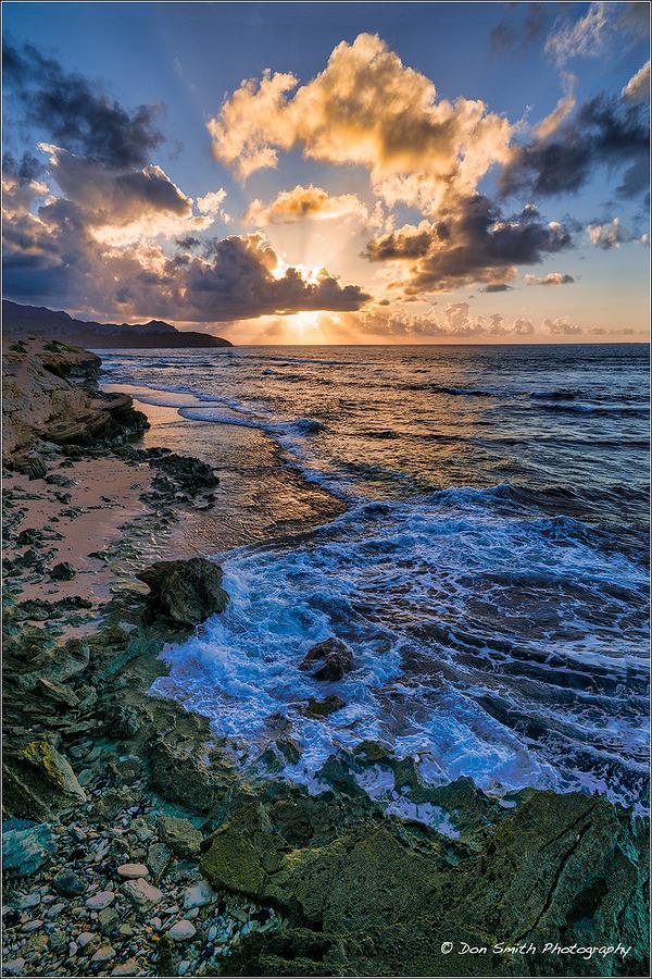 Sunrise Over Lithified Cliffs, Kauai