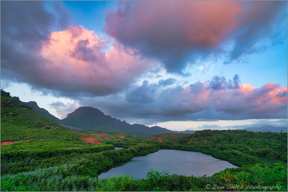 Sunrise at Menehune Fish Pond, Kauai
