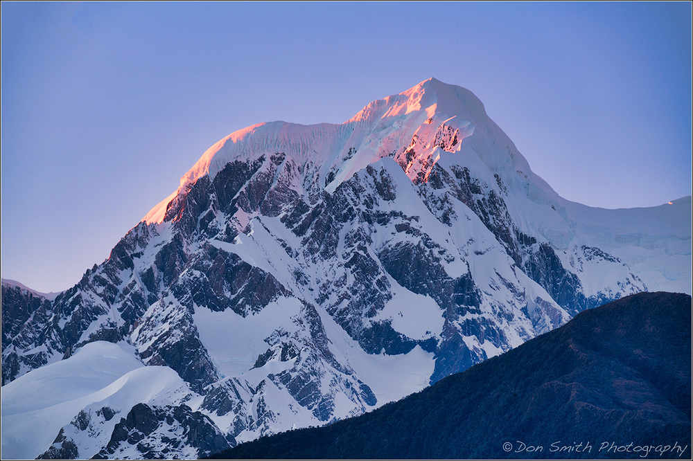 Alpenglow on Mt. Cook, New Zealand