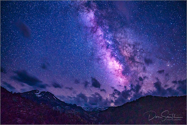 Milky Way and Strange Lights on Sonora Pass