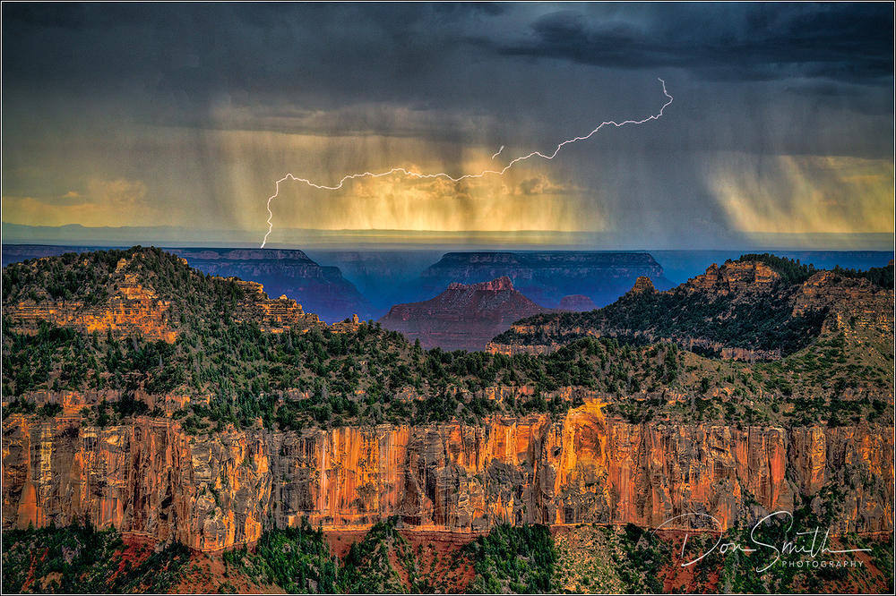 Horizontal Lightning at Grand Canyon NP
