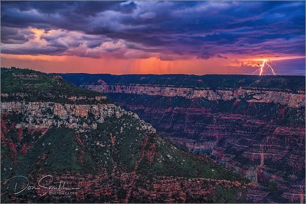 Dusk Lightning, Grand Canyon, North Rim
