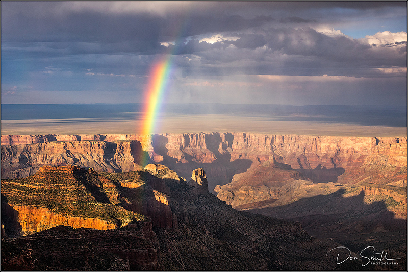 Rainbow at Roosevelt Point, Grand Canyon