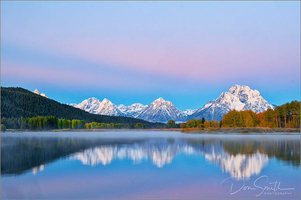 Dawn Hues at Oxbow Bend, Grand Teton NP