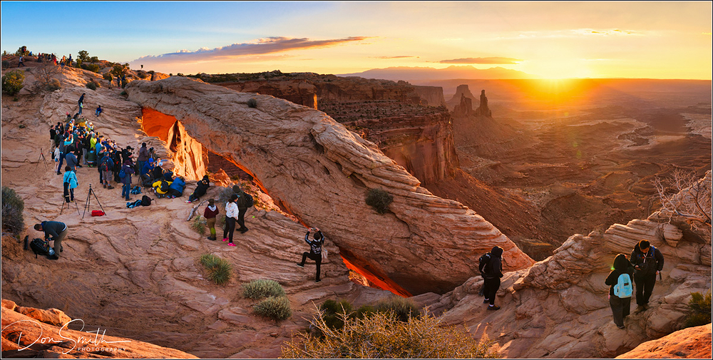 Sunrise Crowds at Mesa Arch, Canyonlands NP